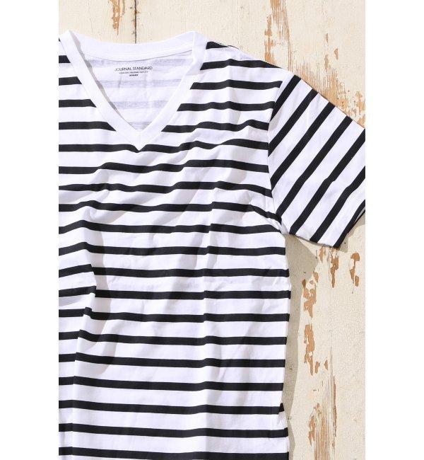 【ジャーナルスタンダード/JOURNAL STANDARD】 【消臭機能付】デオクイックボーダーVネック Tシャツ [3000円(税込)以上で送料無料]