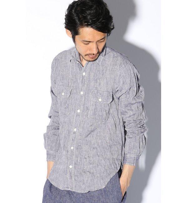 【ジャーナルスタンダード/JOURNAL STANDARD】 フレンチリネンワークシャツ [送料無料]