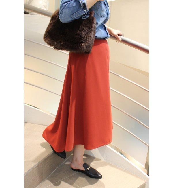 【ジャーナルスタンダード/JOURNAL STANDARD】 ダブルサテン セミフレアスカート◆ [送料無料]