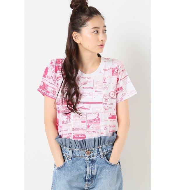 【ジャーナルスタンダード/JOURNAL STANDARD】 タブロイドプリントラウンドネックTシャツ [送料無料]