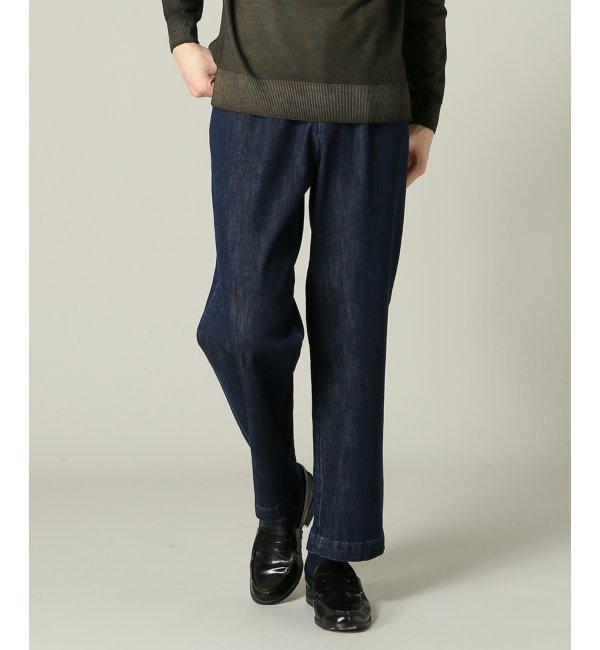 人気ファッションメンズ|【ジャーナルスタンダード/JOURNAL STANDARD】 RICCARDO METHA / リカルドメッサ:mens 1tuck wide trouser denim [送料無料]