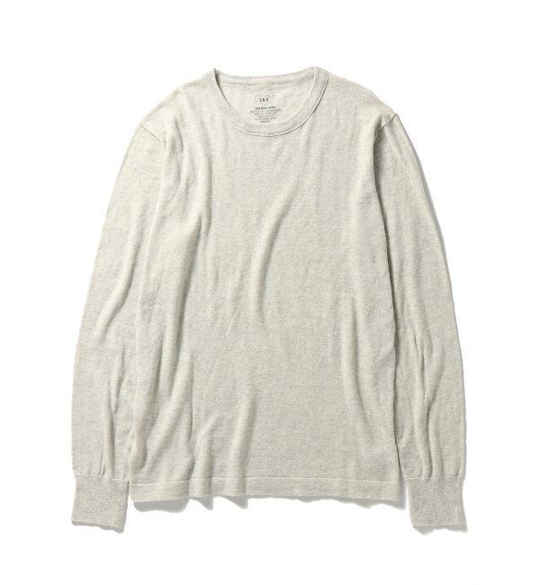 【ジャーナルスタンダード/JOURNAL STANDARD】 Cotton Cashmere Crew Sweater [送料無料]