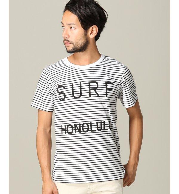【ジャーナルスタンダード/JOURNAL STANDARD】 SALVAGE PUBLIC / サルベージパブリック: SurfHonoluluStripe Tシャツ [送料無料]