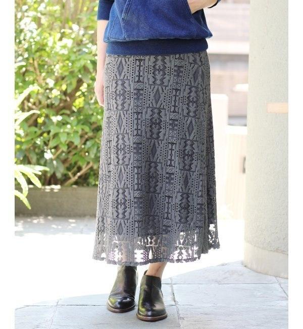 【ジャーナルスタンダード/JOURNAL STANDARD】 【ANNA STUDIO/アナスタジオ】 レーススカート◆ [送料無料]