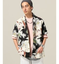【ジャーナルスタンダード/JOURNAL STANDARD】 GOLD / ゴールド : コットンハワイアンオープンシャツ KNG OF [送料無料]