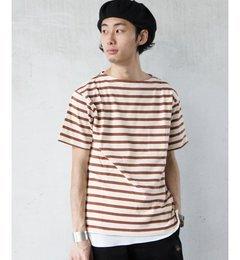 【ジャーナルスタンダード/JOURNALSTANDARD】30/2擬麻加工ボーダーTシャツ[送料無料]