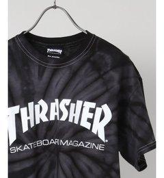 THRASHER / スラッシャー:SPYDER TIE-DIE TEE【ジャーナルスタンダード/JOURNAL STANDARD メンズ Tシャツ・カットソー ブラック ルミネ LUMINE】