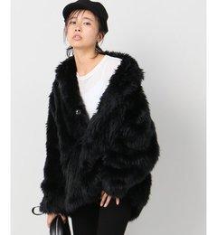 【08 SIRCUS/08サーカス】 eco fur jacket:ジャケット【ジャーナルスタンダード/JOURNAL STANDARD レディス その他(ジャケット・スーツ) ブラック ルミネ LUMINE】