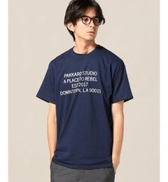 PAKKARD / パッカード : DOWNTOWN LA SS-T【ジャーナルスタンダード/JOURNAL STANDARD メンズ Tシャツ・カットソー ブラック ルミネ LUMINE】