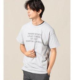 PAKKARD / パッカード : DOWNTOWN LA SS-T【ジャーナルスタンダード/JOURNAL STANDARD メンズ Tシャツ・カットソー グレー ルミネ LUMINE】