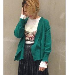 【ジャーナルスタンダード/JOURNAL STANDARD】 7G カシュクールダメージカーディガン◆ [送料無料]
