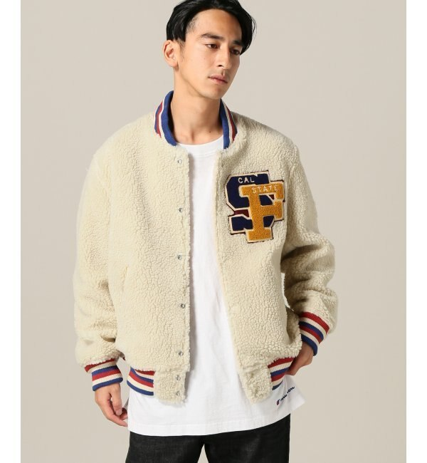 White Ville/ホワイツビル: Custom Boa Stadium Jacket【ジャーナルスタンダード/JOURNAL STANDARD メンズ ブルゾン・スタジャン ナチュラル ルミネ LUMINE】
