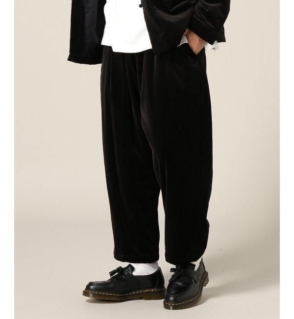 GOLD /ゴールド:VELVETEEN BALLOON PANTS【ジャーナルスタンダード/JOURNAL STANDARD メンズ その他(パンツ) ブラック ルミネ LUMINE】