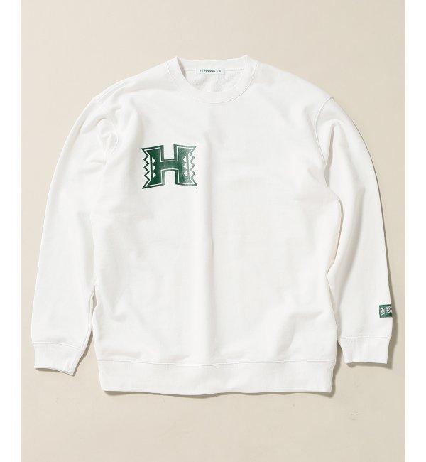 HAWAII UNIV JS SWEAT CREW / ハワイ大学別注【ジャーナルスタンダード/JOURNAL STANDARD メンズ Tシャツ・カットソー ホワイト ルミネ LUMINE】
