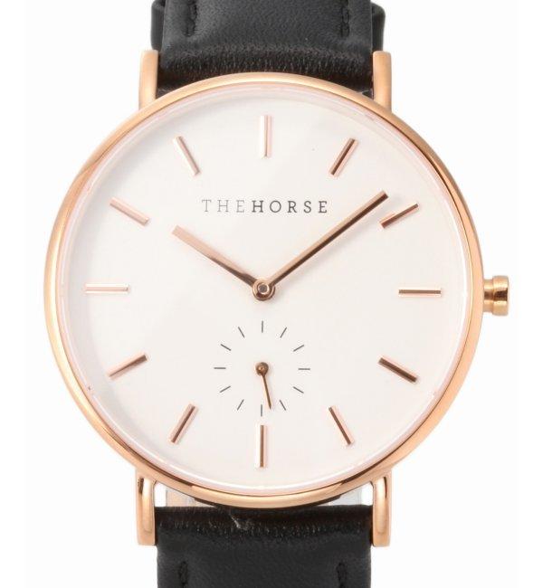 【The Horse/ザ・ホース】Polished Rose Gold Case:腕時計【ジャーナルスタンダード/JOURNAL STANDARD レディス 腕時計 ブラック ルミネ LUMINE】