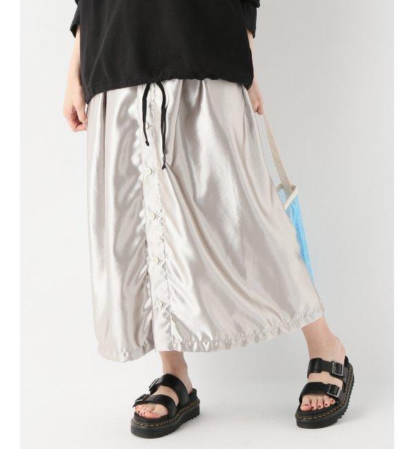 【Engineered Garments/エンジニアードガーメンツ】Tuck Skirt - Polyest【ジャーナルスタンダード/JOURNAL STANDARD レディス スカート シルバー ルミネ LUMINE】