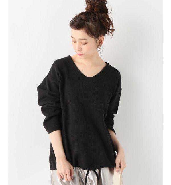 【Engineered Garments/エンジニアードガーメンツ】U Neck Pop Over - Co【ジャーナルスタンダード/JOURNAL STANDARD レディス Tシャツ・カットソー ブラック ルミネ LUMINE】
