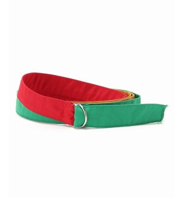 【Engineered Garments/エンジニアードガーメンツ】Double Ring Belt - P【ジャーナルスタンダード/JOURNAL STANDARD レディス ベルト レッド ルミネ LUMINE】