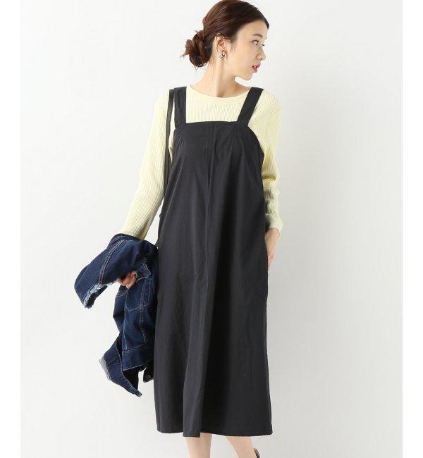 【Engineered Garments/エンジニアードガーメンツ】Cross Back Dress - M【ジャーナルスタンダード/JOURNAL STANDARD レディス ワンピース ブラック ルミネ LUMINE】