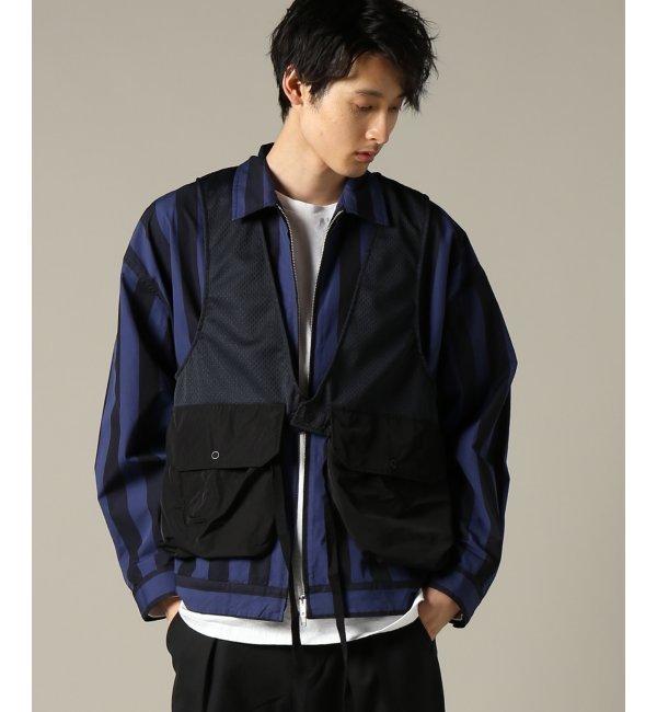 Engineered Garments / エンジニアードガーメンツ : Fowl Vest - 8.5oz Pr【ジャーナルスタンダード/JOURNAL STANDARD メンズ ブルゾン・スタジャン ネイビー ルミネ LUMINE】