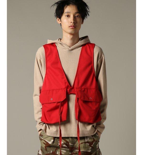Engineered Garments / エンジニアードガーメンツ : Fowl Vest - 8.5oz Pr【ジャーナルスタンダード/JOURNAL STANDARD メンズ ブルゾン・スタジャン レッド ルミネ LUMINE】