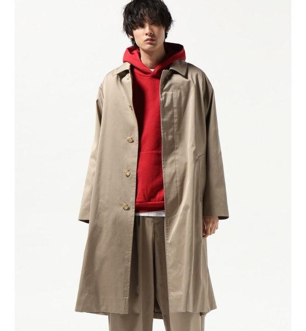 【ジャーナルスタンダード/JOURNAL STANDARD】 60/3 ギャバジン オーバーサイズ ステンカラー コート