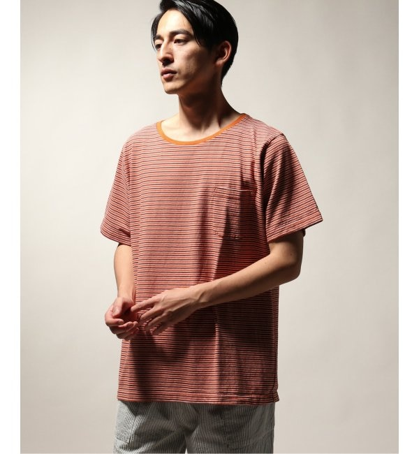 【ジャーナルスタンダード/JOURNAL STANDARD】 BAMBOO SHOOTS / バンブーシュート MULTI STRIPE PKT TEE
