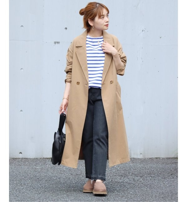 《WEB限定》コットンツイル ロングコート◆