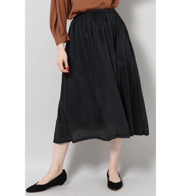 【スピック&スパン/Spick & Span】 【CP SHADES】 SilkCotton skirt [送料無料]