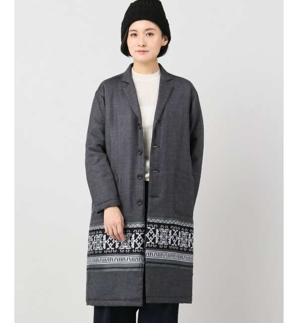【スピック&スパン/Spick & Span】 【White Mountaineering】Wool Twill Primitive Pattern JacquardCont [送料無料]