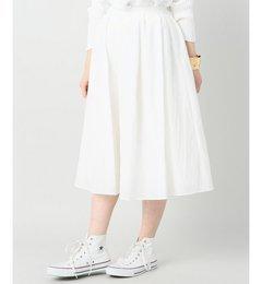 【スピック&スパン/Spick&Span】シャイニーギャザーサテンスカート◆[送料無料]