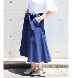 【スピック&スパン/Spick&Span】オーガニックコットンネップスカート◆[送料無料]