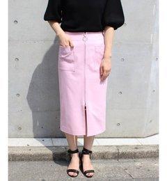 【スピック&スパン/Spick&Span】CNダブルクロスフープジップタイトスカート◆[送料無料]