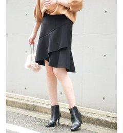 【スピック&スパン/Spick & Span】 ≪予約≫ダブルクロスフレアミニスカート◆ [送料無料]