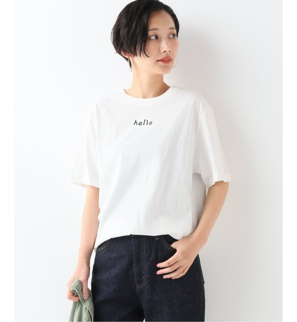 【スピック&スパン/Spick & Span】 30/1天竺チビロゴTシャツ