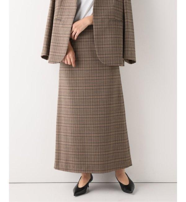 【スピック&スパン/Spick & Span】 グレンチェックロングスカート