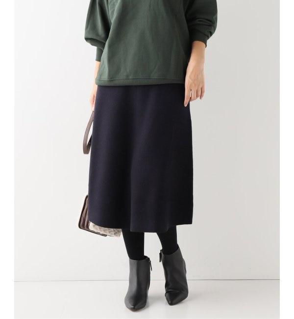 【スピック&スパン/Spick & Span】 14Gスムース編みスカート