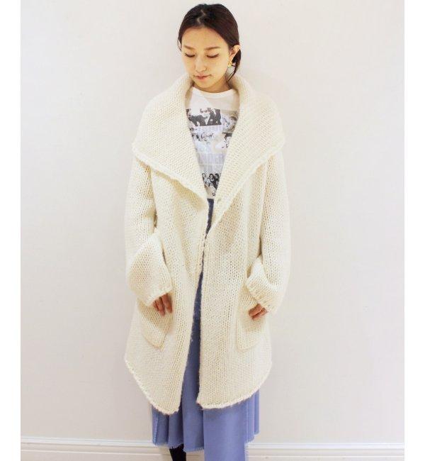 KNOTT ウールニットコート【エディット フォー ルル/EDIT.FOR LULU ニット・セーター】