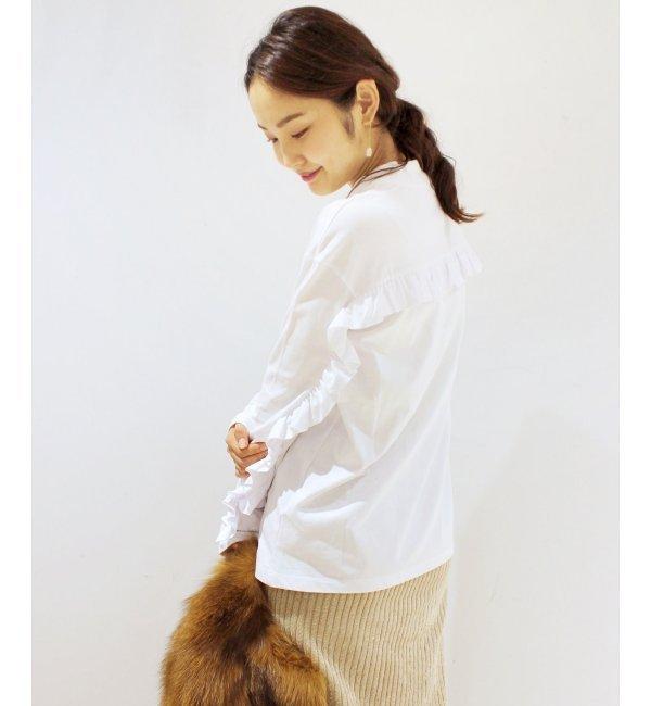 【エディット フォー ルル/EDIT.FOR LULU】 ◇MSGM バックフリルカットソー [送料無料]