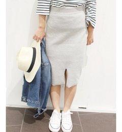 【リミットレス ラグジュアリー/LIMITLESS LUXURY】 12G スリットニットスカート◆ [送料無料]