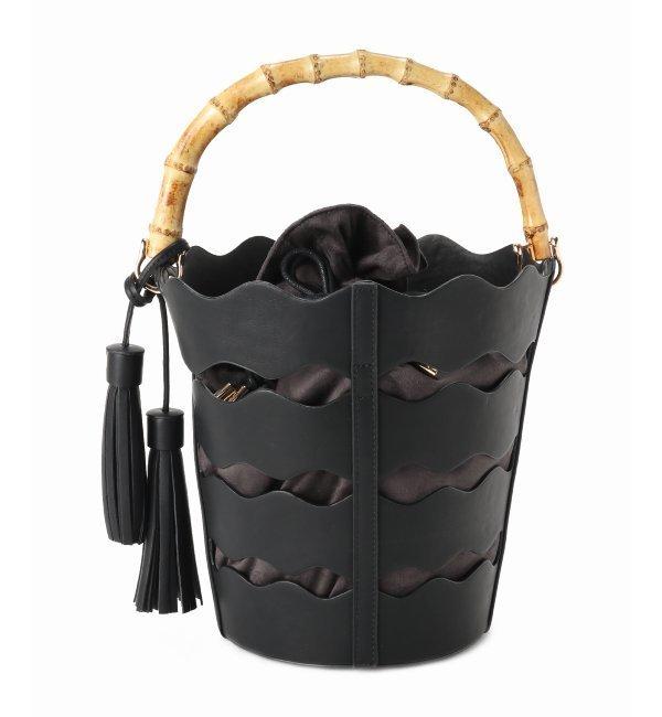 【リミットレス ラグジュアリー/LIMITLESS LUXURY】 Casselini ナミナミバンブーハンドバッグ