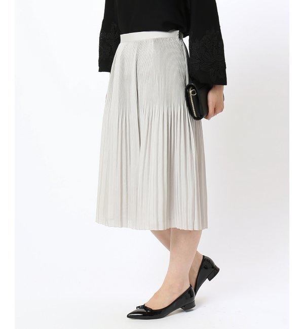 【アイボリー コート/ivory court】 《予約》クリスタルプリーツスカート [送料無料]