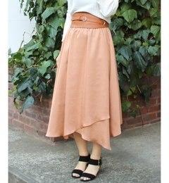 【アイボリーコート/ivorycourt】イレギュラーヘムギャザースカート[送料無料]