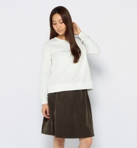 【ナノ・ユニバース/nano・universe】 裏毛プルオーバータフタギャザースカートセット [送料無料]