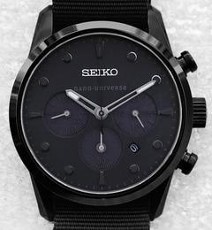 SEIKO/別注Black StealthChrono【ナノ・ユニバース/nano・universe 腕時計】