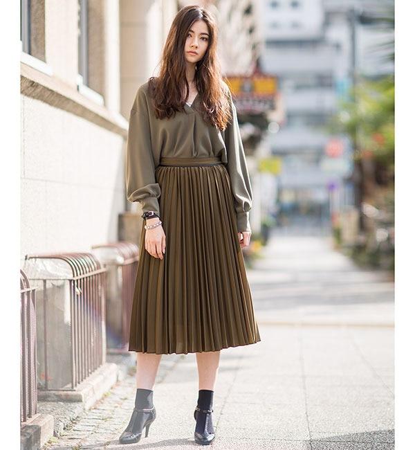 スカート カーキ スカート