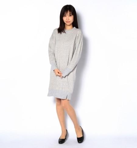 【ナノ・ユニバース/nano・universe】 couture-line(クチュールライン) 裏毛クルーワンピース [送料無料]