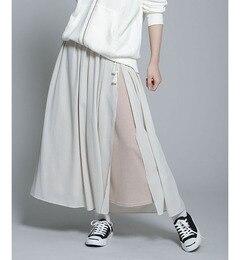 【ナノ・ユニバース/nano・universe】シフォン×カットスリットマキシスカートセット[送料無料]