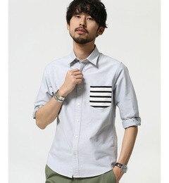 【ナノ・ユニバース/nano・universe】ボーダーPKシャツ7S[3000円(税込)以上で送料無料]