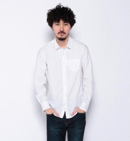 【ナノ・ユニバース/nano・universe】 高密度タイプライタードットシャツ [送料無料]